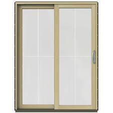 Jeldwen Patio Doors Bronze Double Door Patio Doors Exterior Doors The Home Depot