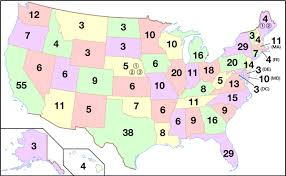 state map electoral college united states