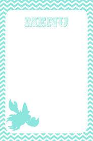 mermaid movie night menu template free printables