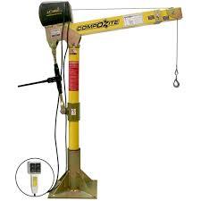 oz lifting products oz1200dav acw 1200 lbs composite davit crane