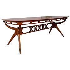 mid century walnut dining table stunning sculptural englander and bonta mid century modern walnut