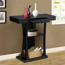 Black Console Table With Drawers Yaheetech 3 Tier Black Console Table With Drawers U0026 Collection
