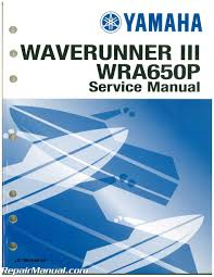 used 1991 yamaha waverunner iii wra650p service manual