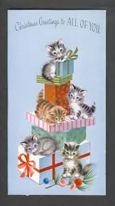 877 best christmas cards with cats images on pinterest vintage