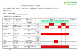 Bathroom Cleaning Schedule Form Sample Cleaning Schedule Template Weekly Bathroom Cleaning