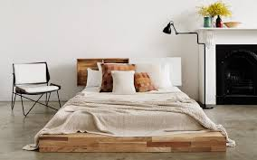 Low Profile Headboards Bed In Front Of Off Center Window Attic Frame Platform King Low