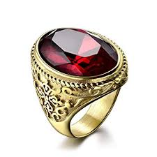 com red rings images Masop big crystal cocktail mens rings stainless steel jewelry jpg