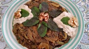 iranische k che persische kochrezepte vegetarisch kashke bademjan کشک و بادمجان