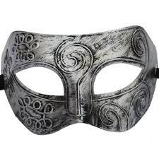 silver masks costume party mask men s retro greco gladiator masquerade