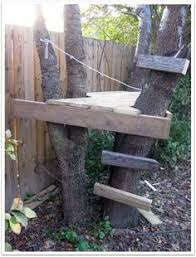 instead of a treehouse build a diy tree fort