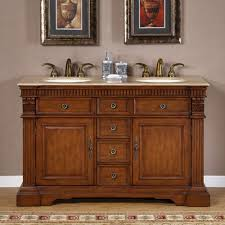 Antique Style Bathroom Vanities by 55 Inch Furniture Style Double Sink Bathroom Vanity Uvsr018155