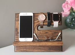 diy wood charging station oak nightstand valet wooden phone stand phone charging