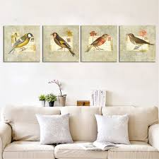 Home Decor Europe Unframed Birds Painting On Canvas Europe Home Decor Hd Wall Art