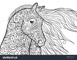 free coloring pages of horses osclues com