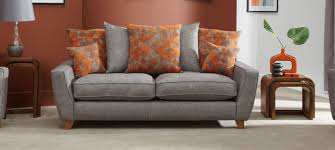 Scatter Back Sofa Lily 3 Seater Scatter Back Sofa Contemporary Living Room