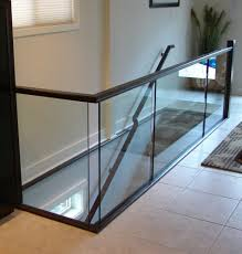 metal landing banister and railing image result for indoor glass railing home renos pinterest