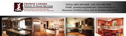 Kitchen Cabinets Markham Proway Kitchen House Services Markham On Ca L3r 5j9