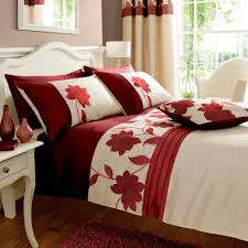 Red King Size Comforter Sets Clarissa Red King Size Duvet Cover Set Embroidered Floral Cream