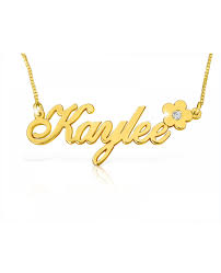 gold name necklaces flower solid 14k gold name necklace the name necklace