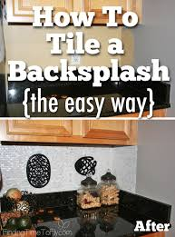 how to tile a backsplash using simple mat finding time to fly