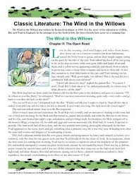 the wind in the willows literature comprehension set