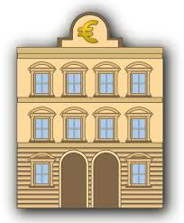 clipart bank building with euro sign