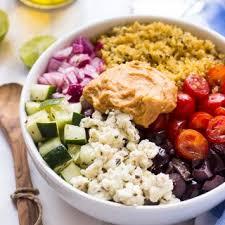 Mediterranean Vegan Kitchen - mediterranean quinoa salad bowl jessica in the kitchen