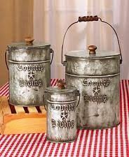 metal kitchen canister sets set of 3 country living canisters galvanized metal kitchen