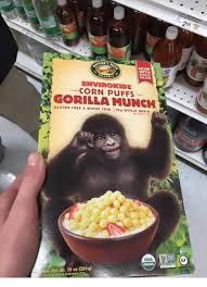 Gorilla Munch Meme - with corn puffs gorilla munch gluten free wheat free 109 whole