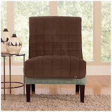 Sure Fit Patio Furniture Covers - sure fit quilted velvet furniture friend armless chair slipcover