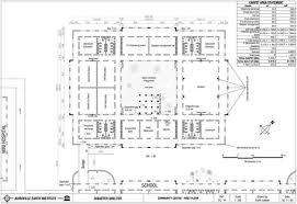 Community Center Floor Plans by Auroville Earth Institute