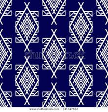 seamless patterns boho style ethnic ornament stock vector
