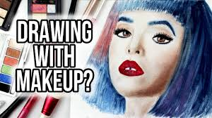 make up artist supplies drawing with makeup how to challenge using makeup tools