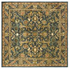 Blue And Gold Rug Safavieh Cambridge Blue Gold 8 Ft X 8 Ft Round Area Rug Cam234a