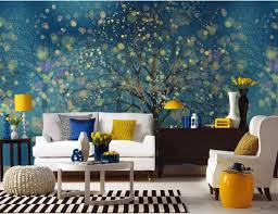 wall murals for living room large peel and stick roomswall 3dwall modern family living room with blue mural and white sofa wall murals for large peel stick