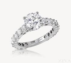 all diamond ring engagement ring with diamonds all around