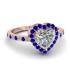 blue wedding rings 14k gold blue sapphire halo engagement rings fascinating