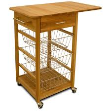 chrome wire basket kitchen cart hayneedle