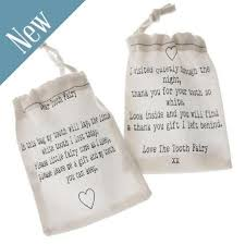 tooth fairy gift linen tooth fairy bags dear tooth fairy thank you gift bag