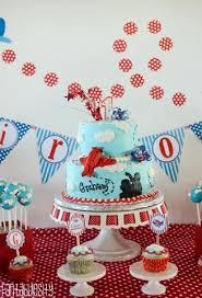 high flying airplane themed boy u0027s first birthday party