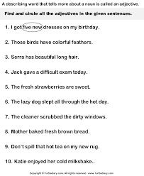 ideas of adjectives worksheets for grade 1 for letter huanyii com