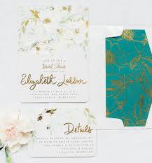 watercolor floral bridal shower invitationsmomental designs