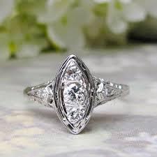 vintage engagement ring art deco style from ladyrosevintagejewel