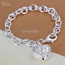 sterling silver bracelet with heart images 2018 heart pendant 925 sterling silver bracelet can custom hand jpg