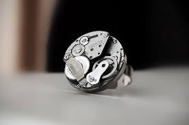 halloween wedding anniversary steampunk jewelry ring antique vintage watch brutal rings