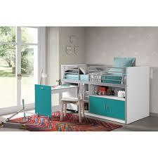 bureau turquoise vipack halfhoogslaper bonny uitschuifbaar bureau turquoise