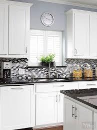 what color tile goes with gray cabinets glass tile backsplash pictures trendy kitchen backsplash