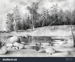 shading sketches of nature drawing nature jemctk drawing
