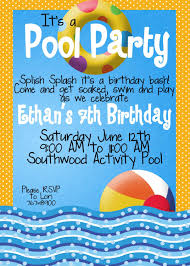 Backyard Birthday Party Invitations Pool Party Invitation Ideas Cloveranddot Com