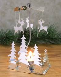 amazon com spinning metal candle holder reindeer charms spin